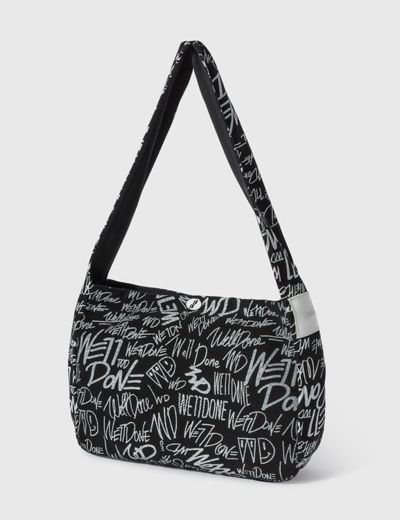 We11done All-over Logo Cotton Cross Bag