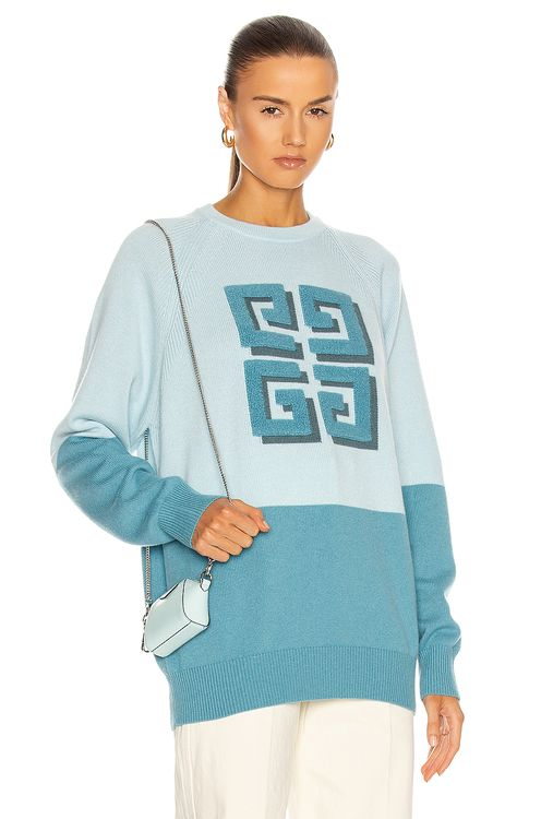 Givenchy Bicolor Crew Neck 4G Sweater