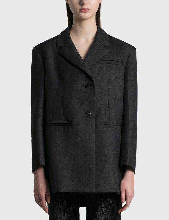 Ganni Wool Suiting Oversized Blazer