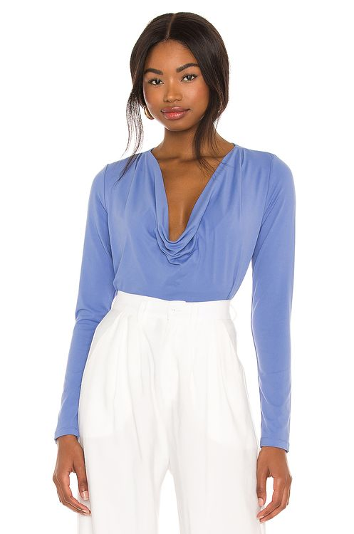 Susana Monaco Cowl Neck Fitted Top