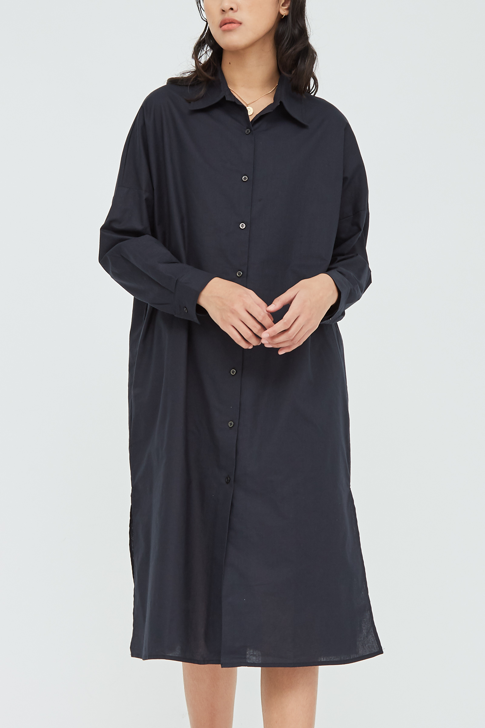 Shopatvelvet Perry Shirt Dress Black
