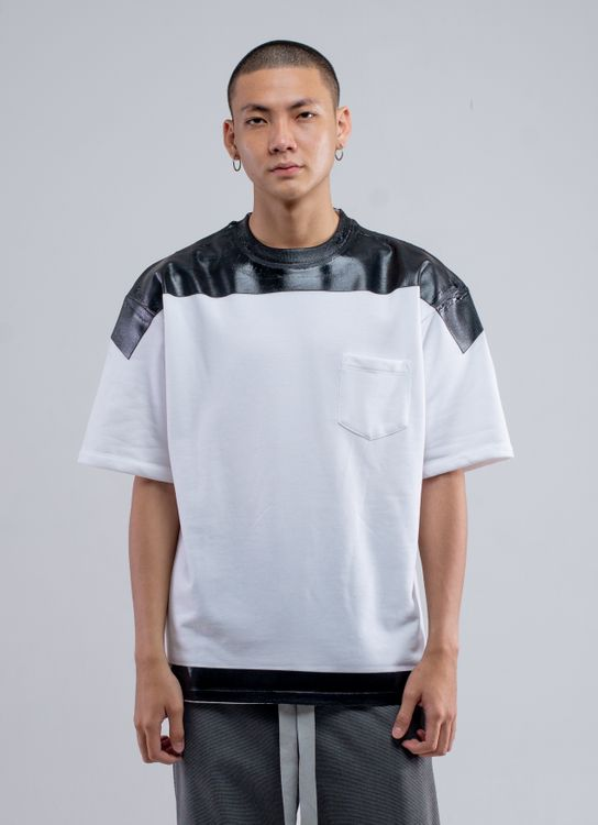 EHT by Enharmonic Tavern Product Print Wide Tee - White/Black
