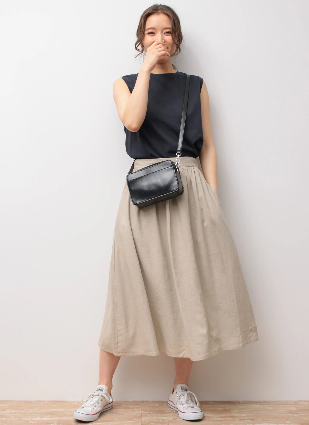 Earth, Music & Ecology Sachiko Skirt - Beige