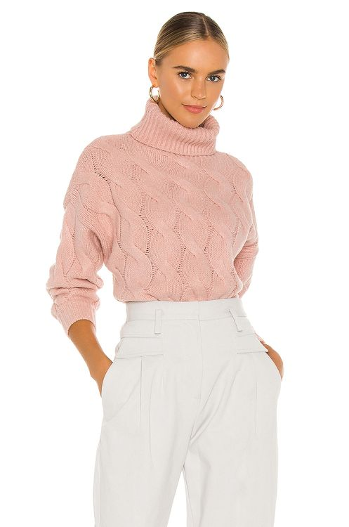 Line & Dot Aimee Cable Knit Sweater