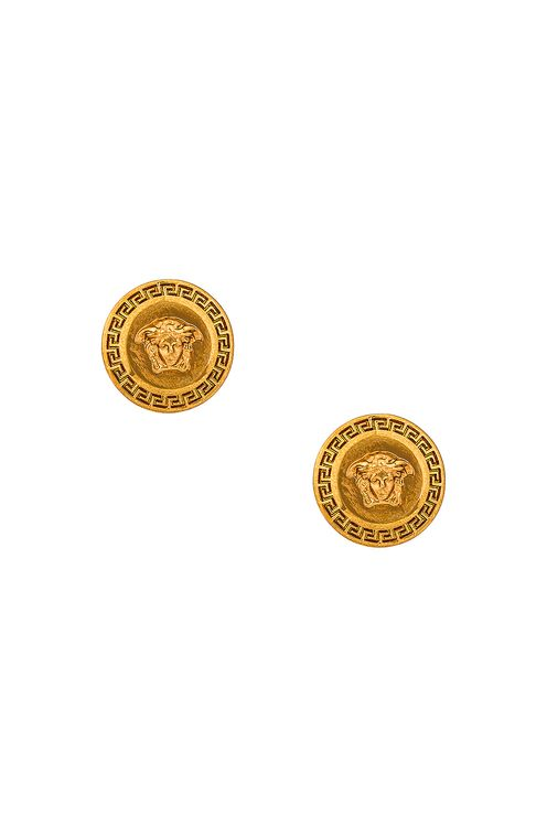 Versace Medusa Coin Stud Earrings
