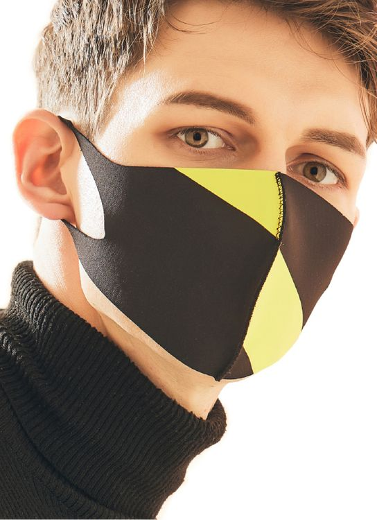 Looka Mask Protective Face Mask YELLOW PRISM BLACK