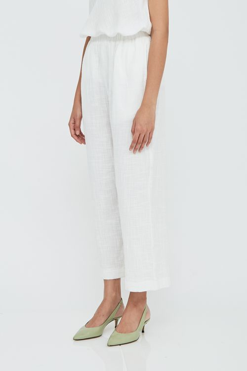 Shopatvelvet Boulevard Pants Crinkled Cotton