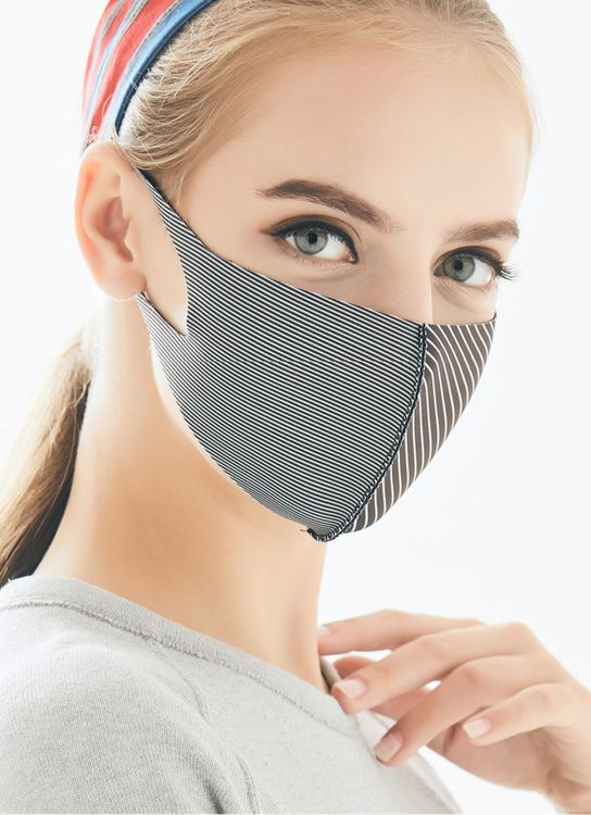 Looka Mask Protective Face Mask CASUAL STRIPE BLACK