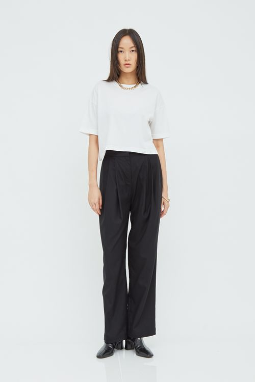 Shopatvelvet Basic Crop T-shirt White
