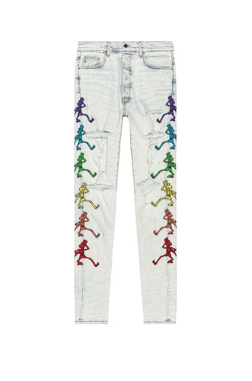 Amiri Grateful Dead Embroidery Jean
