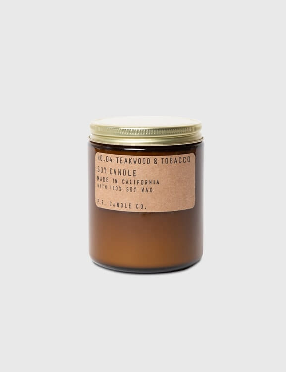 P.F. Candle Co. Teakwood & Tobacco Mini Soy Candle
