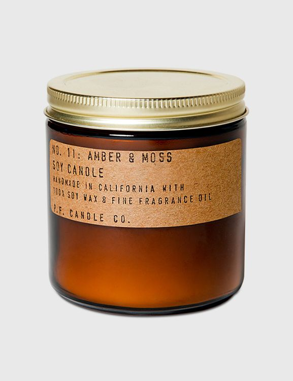 P.F. Candle Co. Amber & Moss Large Soy Candle