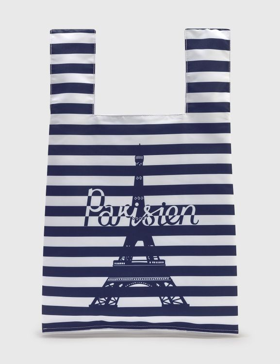 MAISON KITSUNE Parisien Tower Stripes Nylon Bag