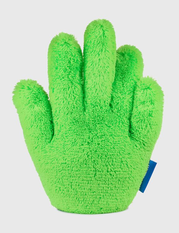 Crosby Studios Green Short Furry Hand Pillow