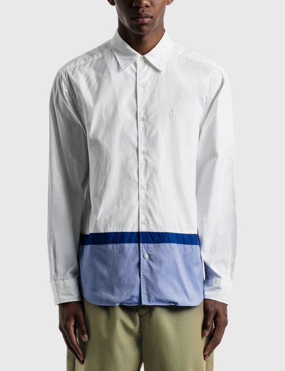 Sophnet Hem Paneled Regular Collar Shirt