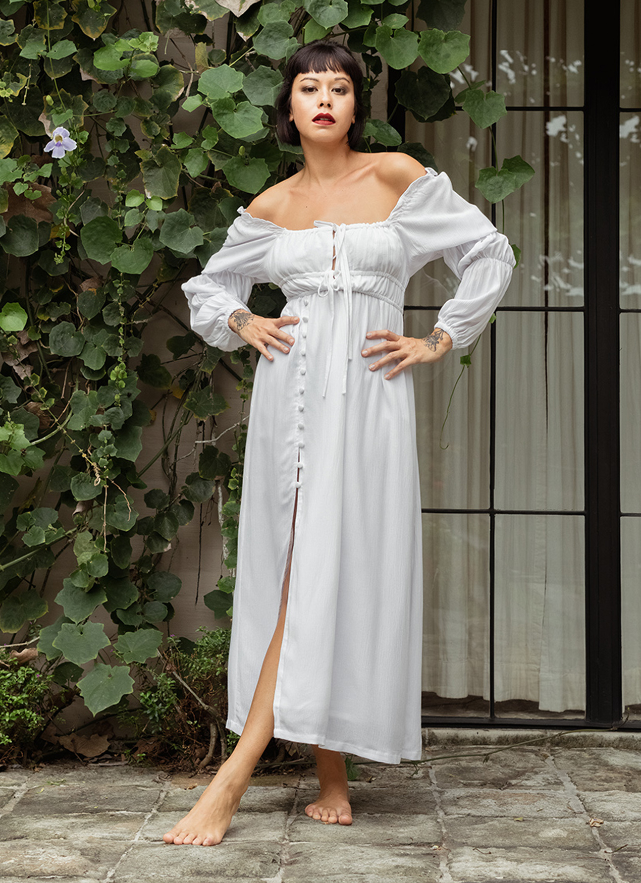 Eesome Maddie Dress Off White