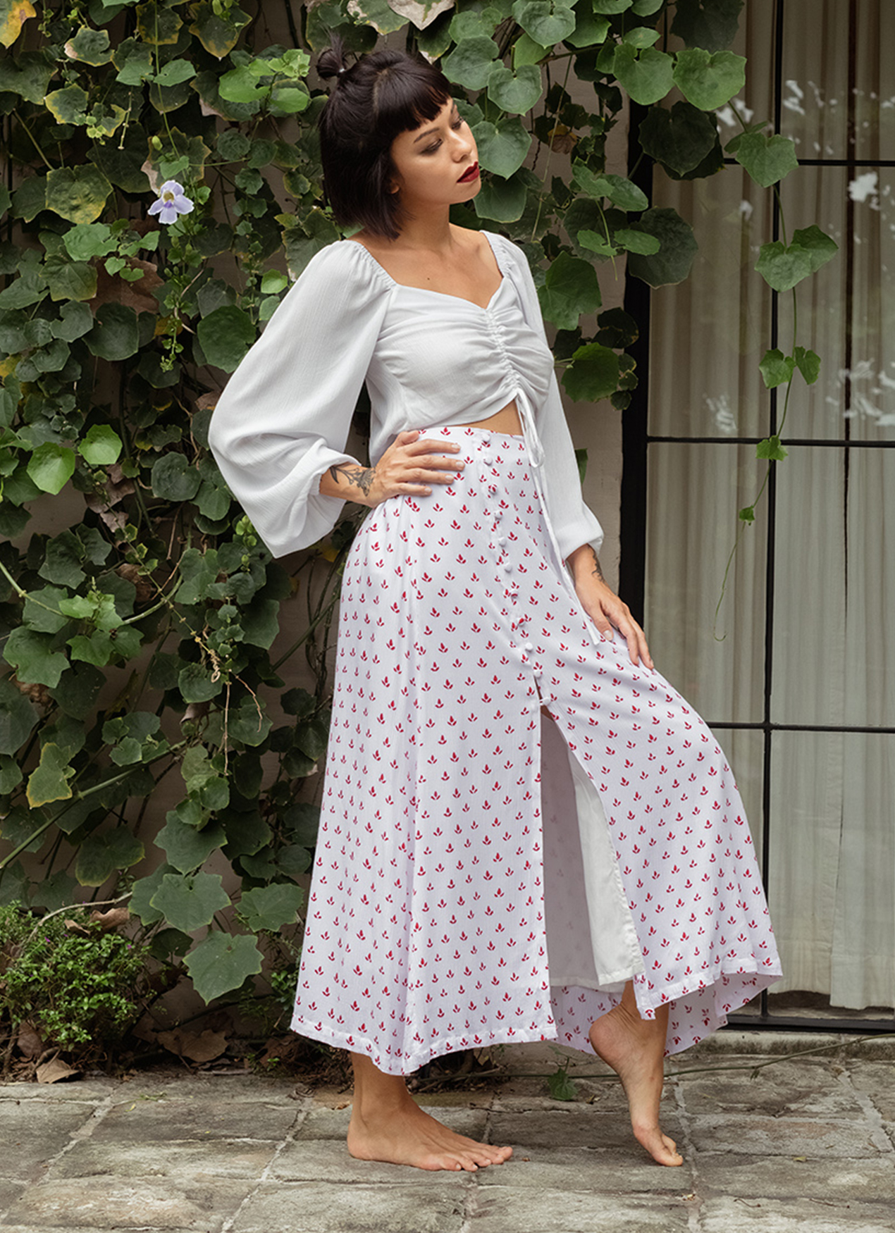 Eesome Maddie Skirt Off White Pattern