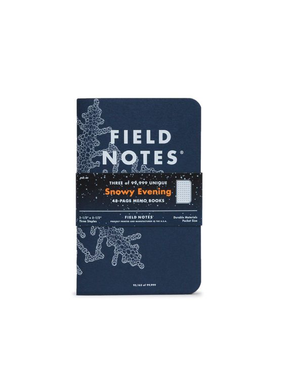 Field Notes Field Notes Snowy Evening 3 Pack Dot Graph Paper
