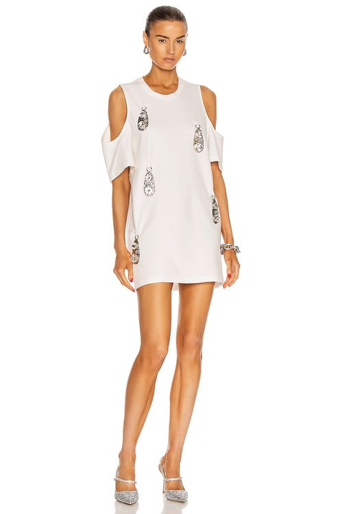 AREA Cold Shoulder Pendant T-Shirt Dress