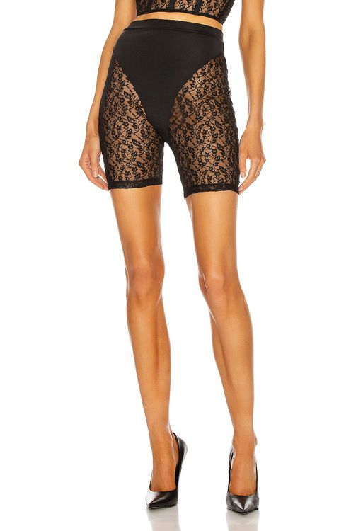 LaQuan Smith for FWRD Lace Biker Short