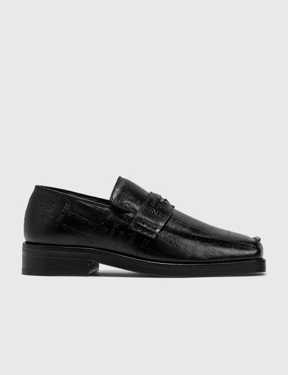 Martine Rose Embossed Text Roxy Loafer