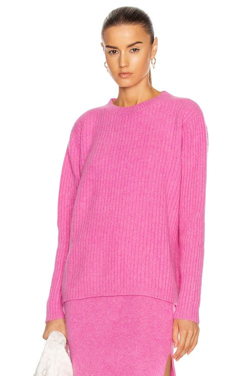 The Elder Statesman Rib Simple Crew Sweater