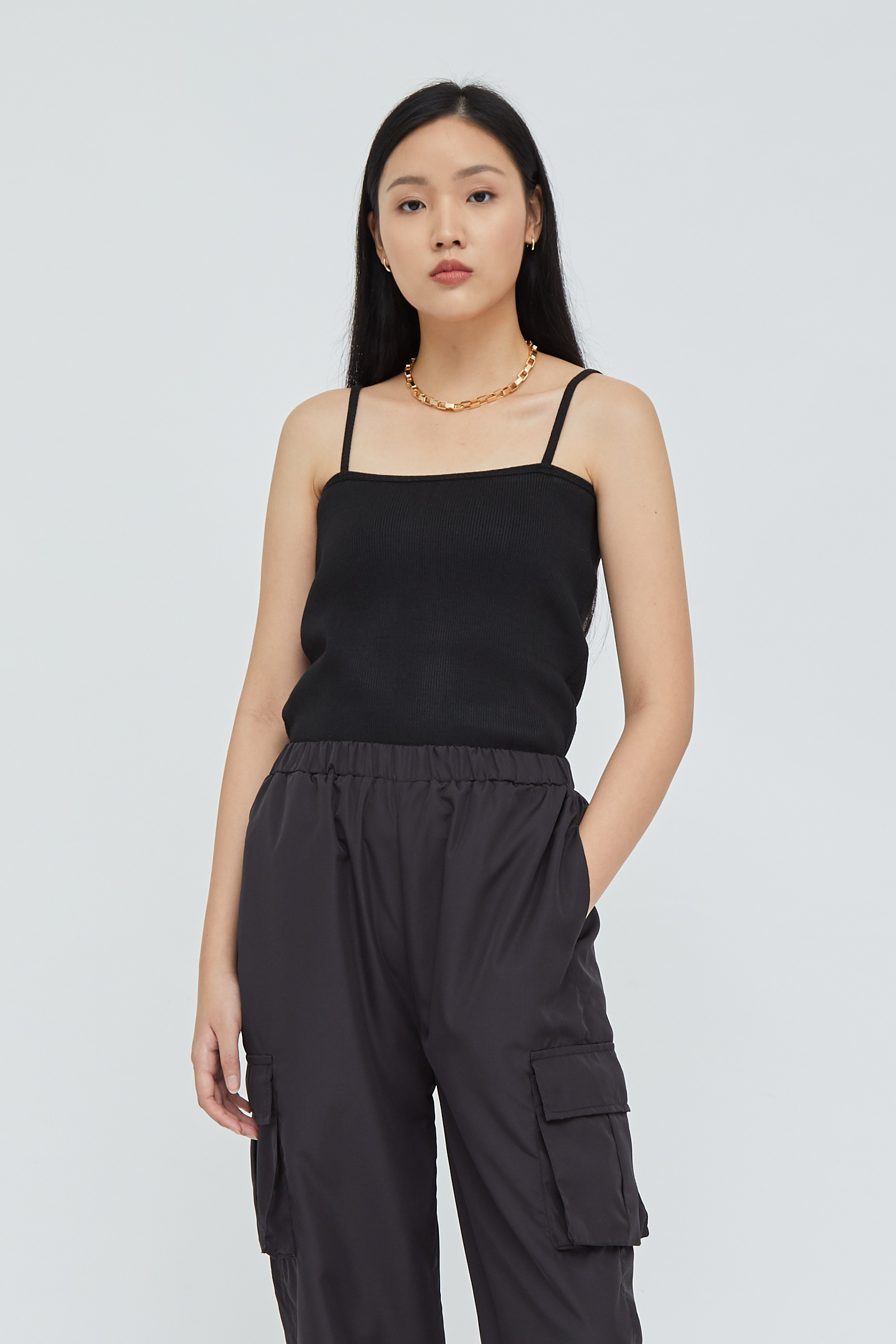 Shopatvelvet Dune Tank Top Black
