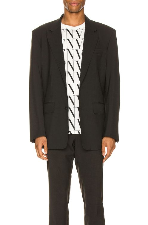 Valentino Deconstructed Suit Jacket