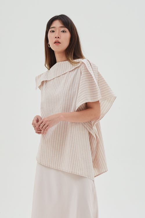Shopatvelvet Stripe Drape Top