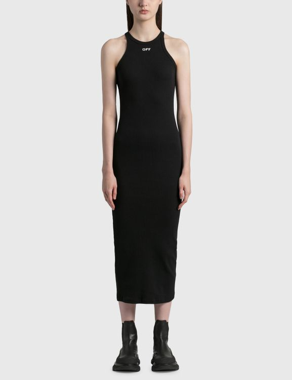 Off-White Basic Ribbed Dress