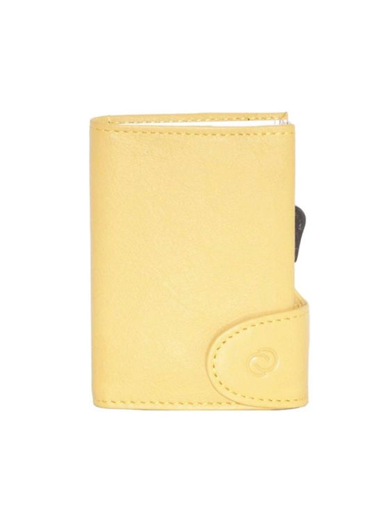 C-Secure C-Secure Italian Leather RFID Wallet Giallo Sole