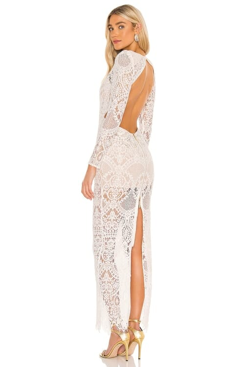 Bronx and Banco Allegra Blanc Maxi Dress