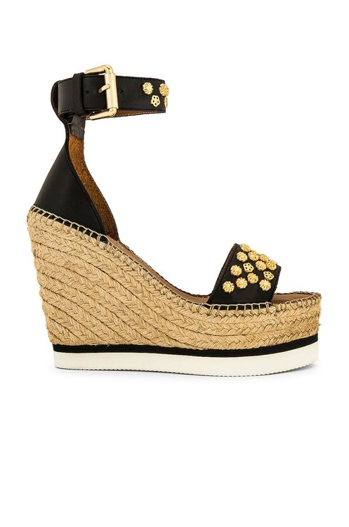 See By Chloé Flower Stud Espadrille