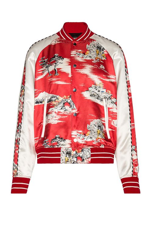Amiri Hawaiian Bomber Jacket