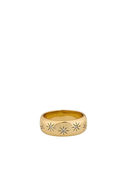 Five and Two Violet Gold Plating Ring