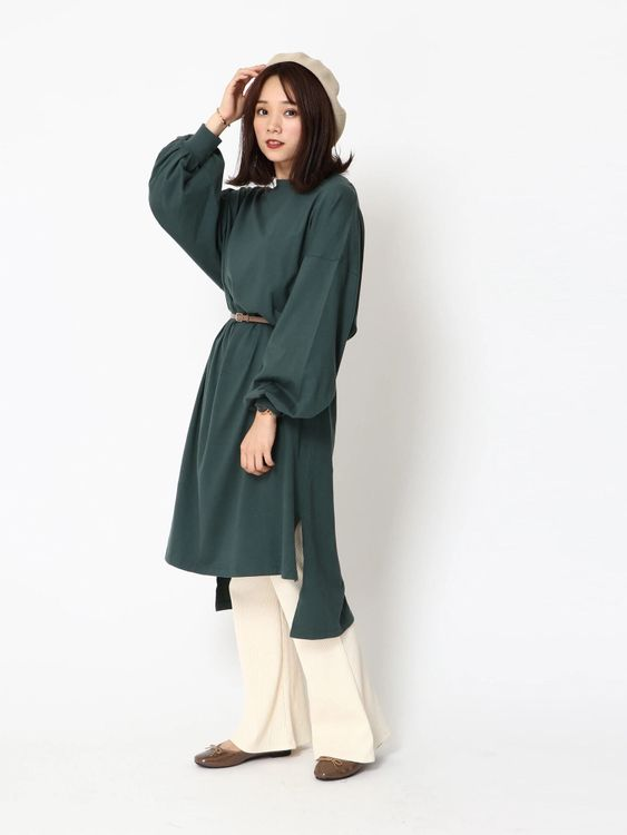 Earth, Music & Ecology Polina Dress  - Dark Green