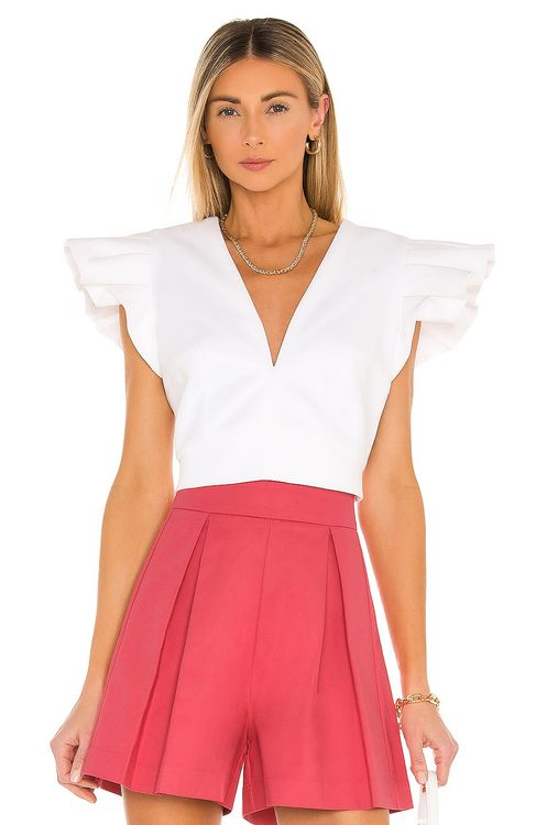 IORANE Compact Cotton Cropped Top