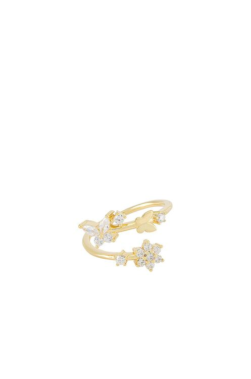 Adina's Jewels Butterfly x Flower Wrap Ring