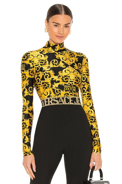 VERSACE JEANS COUTURE Logo Baroque Top