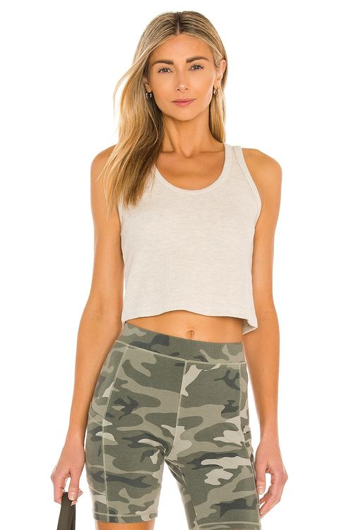 Monrow Brushed Thermal Cropped Tank