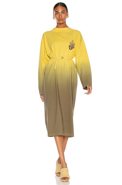 Moncler Genius 1 Moncler JW Anderson Dip Dyed Long Sleeve Dress