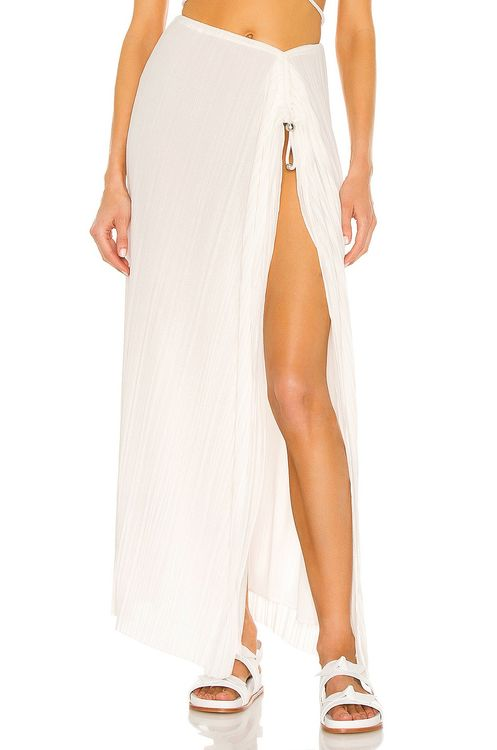 Dion Lee Pleated Bead Gather Skirt