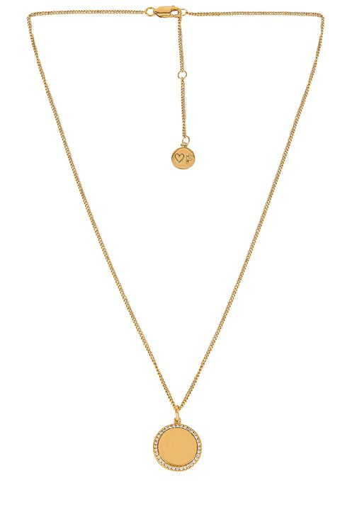 FAIRLEY Halo Pave Crystal Necklace