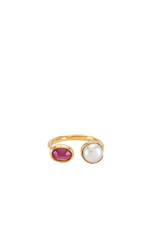 FAIRLEY Pearl & Pink Sapphire Ring
