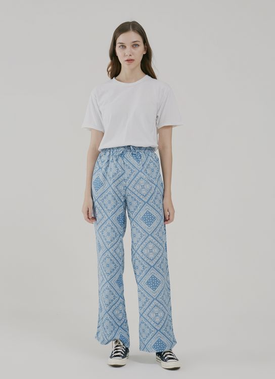 Argyle and Oxford Bandana Lounge Pants in Blue