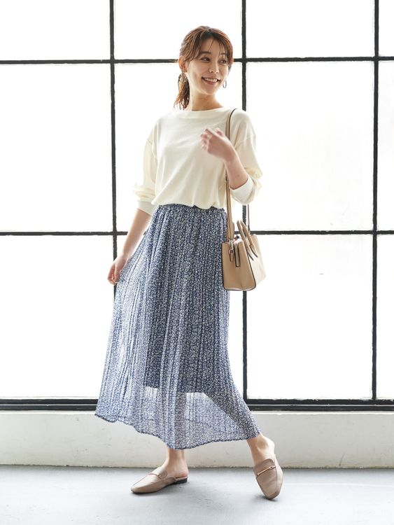 Green Parks Sato Pleated Skirt - Blue