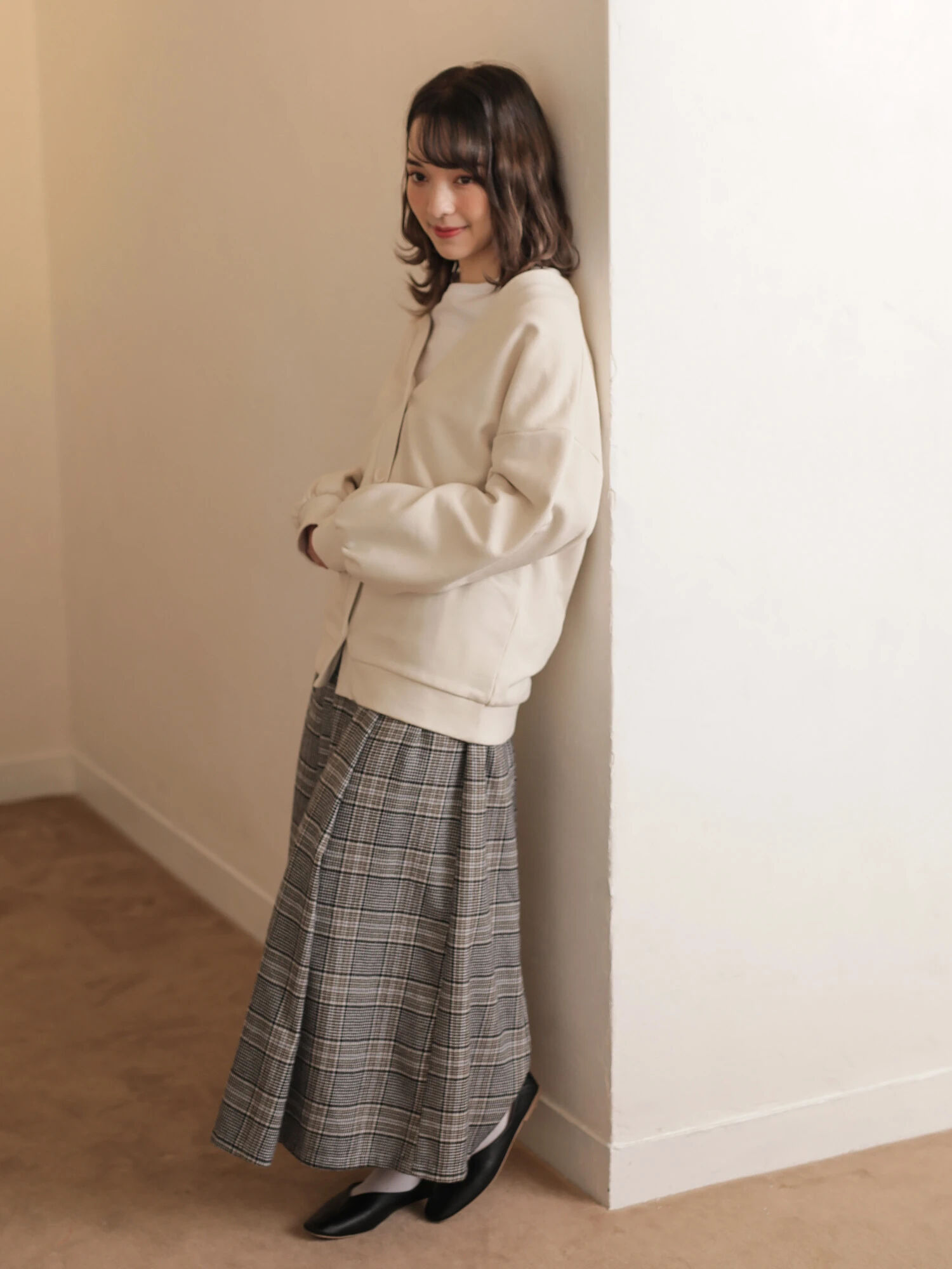 E-hyphen World Gallery Ayaka Maxi Skirt - Gray