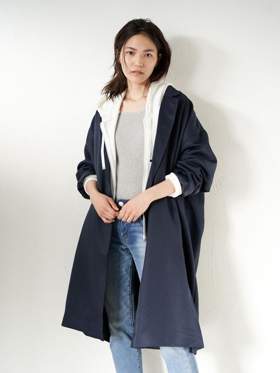 American Holic Kiki Trench Coat - Navy