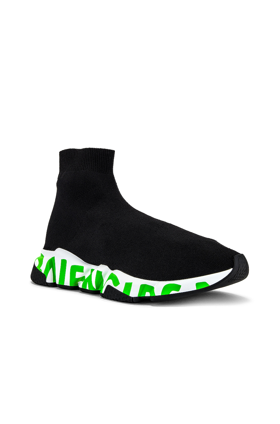 Balenciaga Speed Light Graffiti in Black & Fluo