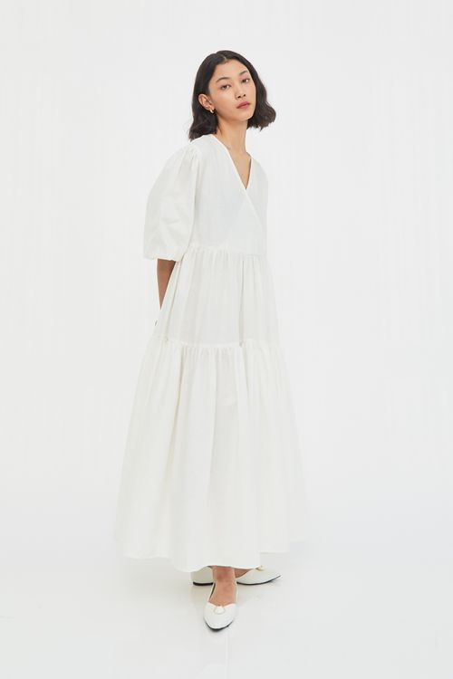 Shopatvelvet Charles Dress White